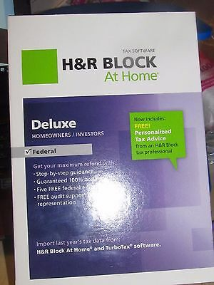 H&R Block At Home Deluxe Federal 2012, New