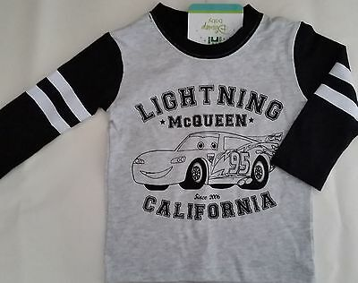 CARS LIGHTNING McQUEEN Baby licensed long sleeve t tee shirt top NEW size 00