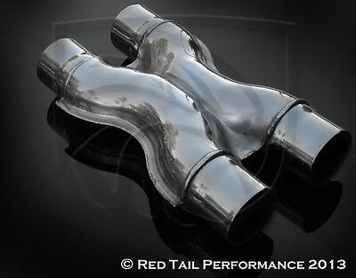 "T304 Stainless Steel Exhaust X Pipe 2.5"" Inlet 2.5"" OD"