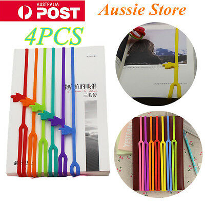 4pcs Silicone Bookmarks Note Pad Memo Book Mark Stationery Novelty Funny Gift