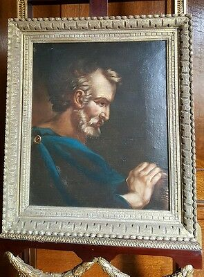 Antique 19th Century painting of  St.  Jerome European Italian old masters