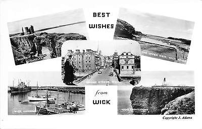 Best Wishes from Wick, The Upper Weir, Wick River, Harbour, Lighthouse 1963