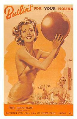 Butlin's for your Holiday, Brochure, Segness wet holiday 1953 Nostalgia Reprint