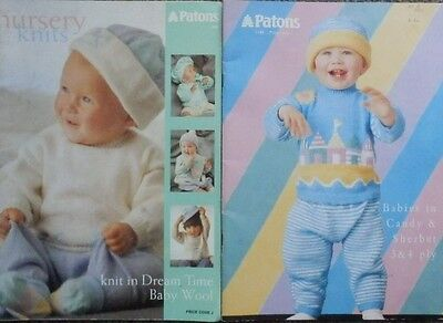 2 Patons Baby & Toddler Knitting Pattern Books-Jumpers,cardigans,leggings,hats