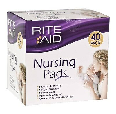 4 Packs of Rite Aid Disposable Nursing Breast Pads(40)