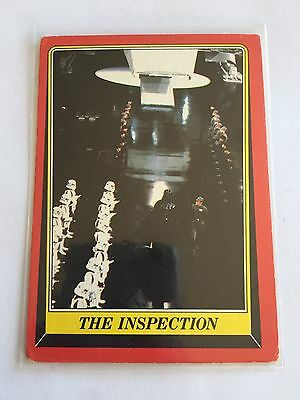 1983 SCANLENS TOPPS Picture Card Star Wars Return Of The Jedi The Inspection #10