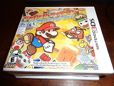 Paper Mario: Sticker Star (Nintendo 3DS, 2012) New Sealed
