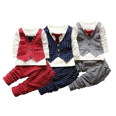 Toddler Baby Boys Long Sleeve tops + Long Pants Set Kids Clothes Costume Outfit