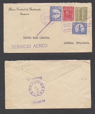 Guatemala 1930 airmail cover to Great Britain