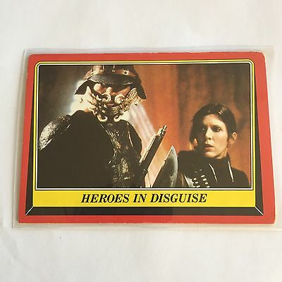 1983 SCANLENS TOPPS Card Star Wars Return Of The Jedi Heroes In Disguise #31