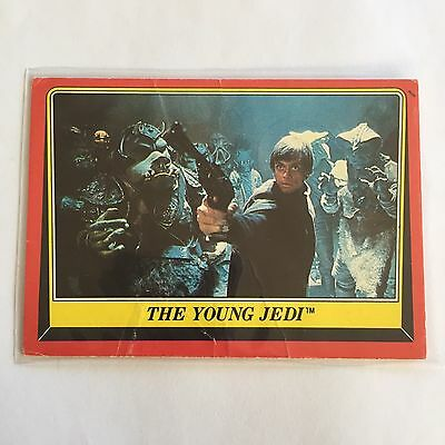 1983 SCANLENS TOPPS Card Star Wars Return Of The Jedi The Young Jedi #34