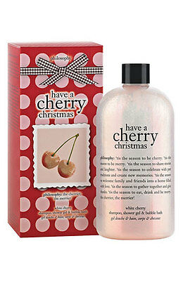 PHILOSOPHY Shower Gel HAVE A CHERRY CHRISTMAS 480ml New in Box body wash