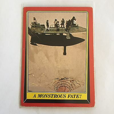 1983 SCANLENS TOPPS Card Star Wars Return Of The Jedi A Monstrous Fate #41