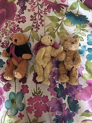collectors bears x3 , immaculate condition