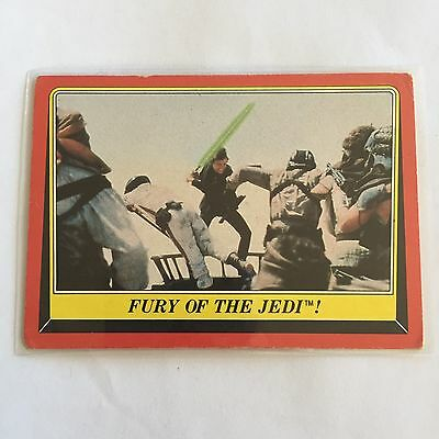 1983 SCANLENS TOPPS Card Star Wars Return Of The Jedi Fury Of The Jedi #44