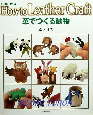 How to Leather Animal Craft /Japanese Handmade Craft Book