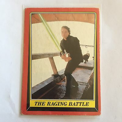 1983 SCANLENS TOPPS Card Star Wars Return Of The Jedi The Racing Battle #51