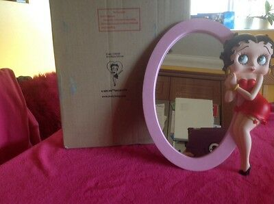 betty boo oval mirror with betty boo attached