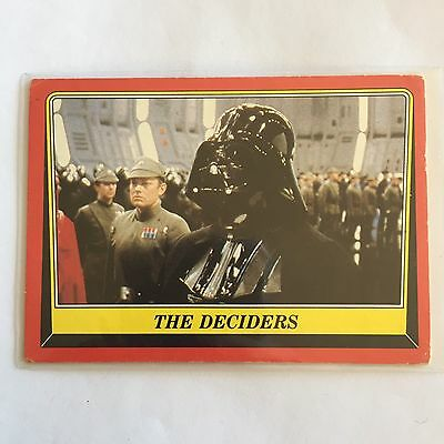 1983 SCANLENS TOPPS Card Star Wars Return Of The Jedi The Deciders #56