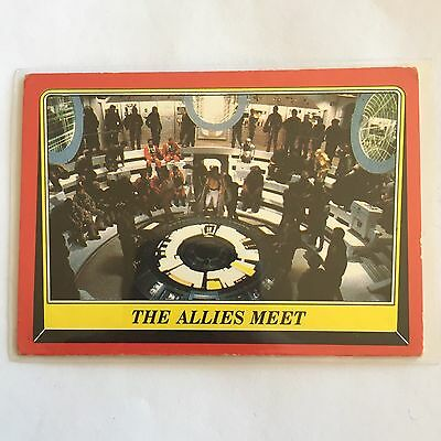 1983 SCANLENS TOPPS Card Star Wars Return Of The Jedi The Allies Meet #60