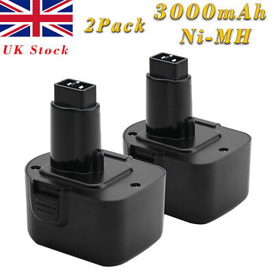 2x 3.0Ah 12V Ni-MH Battery For Dewalt DW9072 DC9071 DE9037 DE9071 DE9074 DE9075