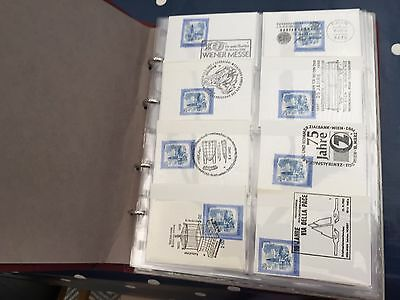 Austria big lot of stamps with special postmarks and on covers, in album