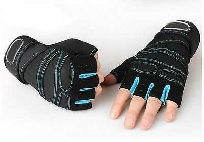 Weight lifting Gym Gloves Training Fitness Wrist Wrap Sports Workout Exercise