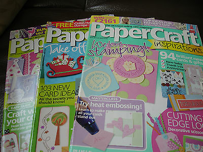 Papercraft Inspirations Card making Magazines Issues 35, 53 & 79