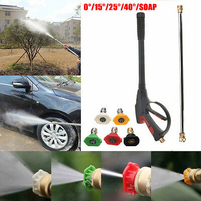 3000PSI High Pressure Car Spray Gun 50cm Wand Lance Water Washer Nozzle Tips New