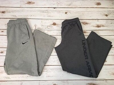 Boys Nike & Under Armour Lot Therma Fit Sweat pants Size Youth XL Loose Fit