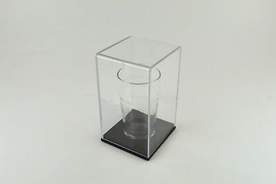 Pint Glass Display / Gift / Presentation Case - Clear case with Black base