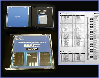 Roland PN-JV80-06 Rich sound collection 3 -Data ROM /JV-80, JV-1080 & compatible