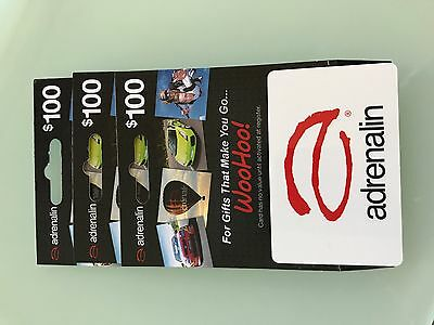 Adrenalin $100 gift card voucher long expiry CHEAPEST ON EBAY MANY AVAILABLE!!!!