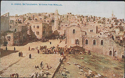 Antique Ppc. Bethlehem. Within The Walls. Posted From Barry. Glam. 1918