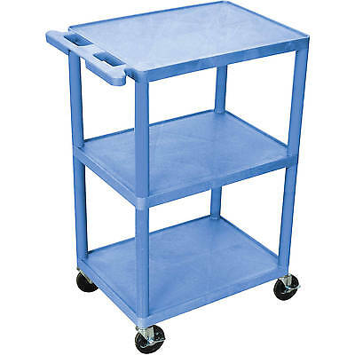 Luxor 3-Shelf Utility Cart, Blue