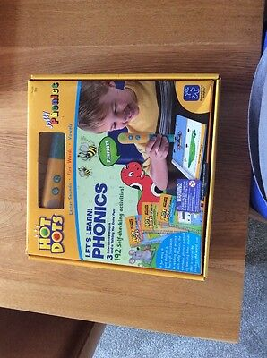 Hot Dots - Jolly Phonics - Lets Learn Phonics 3 interactive Books - NEW