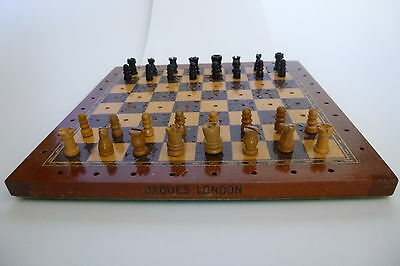 Vintage Travel Chess Set By Jaques Of London C.1920