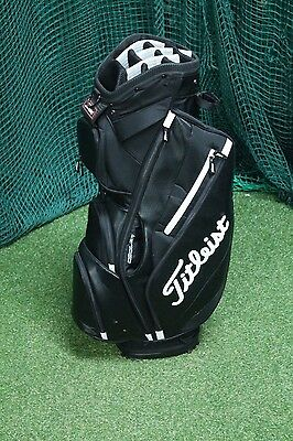 Titliest Cart Bag / Black White / 14-Way Divider / Tigrev001