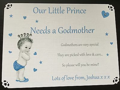 Will You Be My Godparents Card, Godmother, Godfather, Personalised Card, Gift