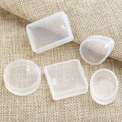 5Pcs/Set 5 Shapes Jewelry Pendant Resin Craft Mold Silicone DIY Craft Supplies