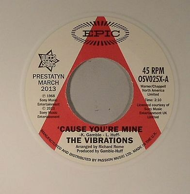 "VIBRATIONS, The - Cause You're Mine - Vinyl (7"")"