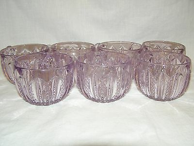 (7) Duncan & Miller Amethyst Purple Punch Bowl Cups
