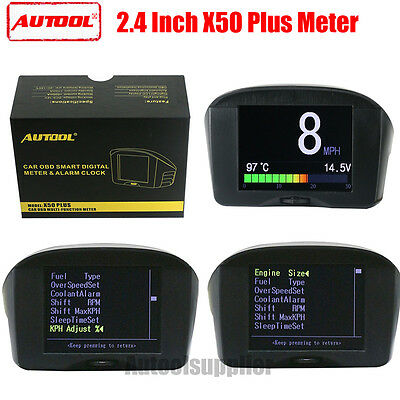 AUTOOL X50 Plus Auto OBD Smart Digital & Wecker Fehlercode MultiFunction Meter