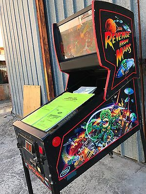 Pinball Bally Revenge From Mars Flipper - USED - LCD - 100% Operation Condition