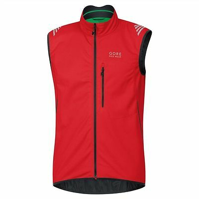 Chaleco Gore Bike Wear Element Windstopper SO Rojo