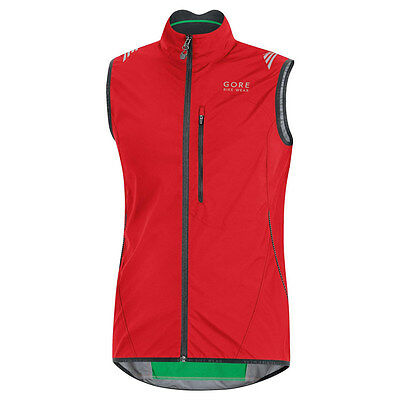 Chaleco Gore Bike Wear Element Windstopper AS Rojo