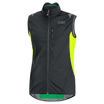 Chaleco Gore Bike Wear Element Windstopper AS Negro-Neon