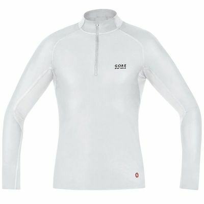 Camiseta termica Gore Bike Wear Baselayer WS Turtleneck Blanco
