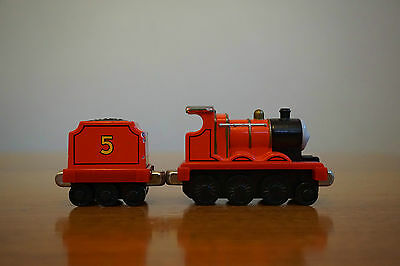 Thomas the Tank Engine Diecast Take-N-Play/Take Along - James with Tender