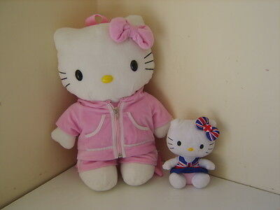 Large  Hello Kitty Back Pack And Small Ty Teddy